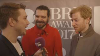 Biffy Clyro on the BRIT Awards 2017 red carpet | Absolute Radio