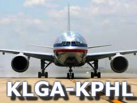 Vatsim | American Airlines | PMDG 737 | KLGA-KPHL | CRASH