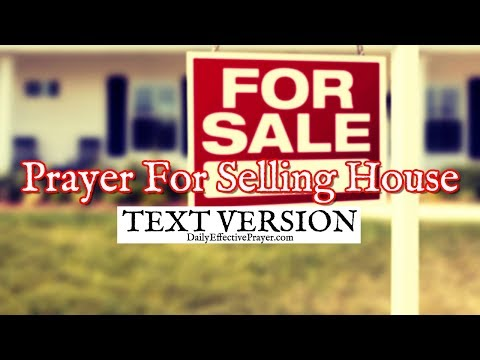 Prayer For Selling House / Home (Text Version - No Sound)