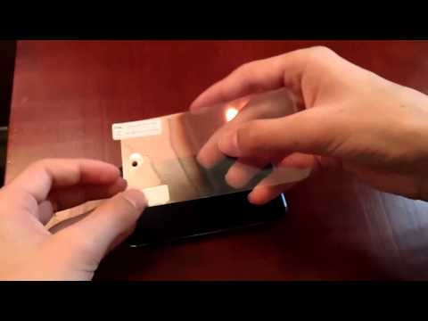 How to Install a Screen Protector Film on an ipod Touch 4g