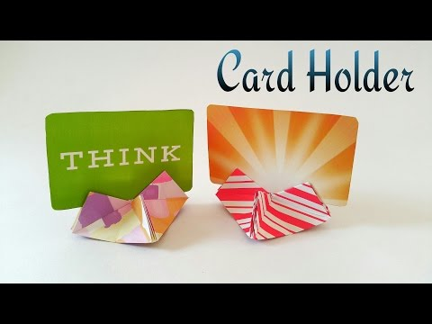 Heart shaped Card holder - Useful Origami Tutorial by Paper Folds ❤️
