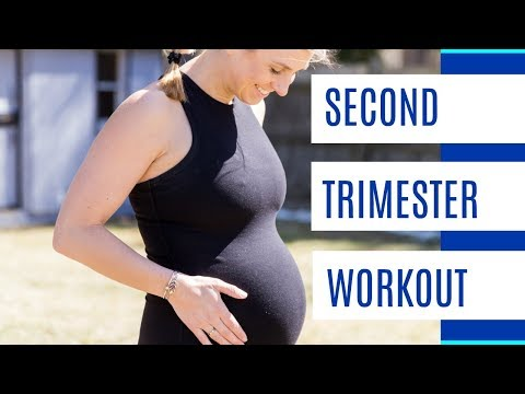 Pregnancy Workout | 2nd Trimester Prenatal Fitness HIIT Workout