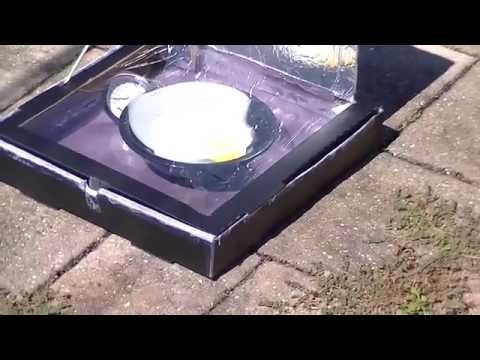 Solar Cooker Oven Pizza Box - School Project