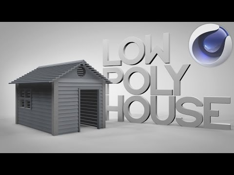 Model a Low Poly Minimalistic House / Cabin | Cinema 4D Tutorial