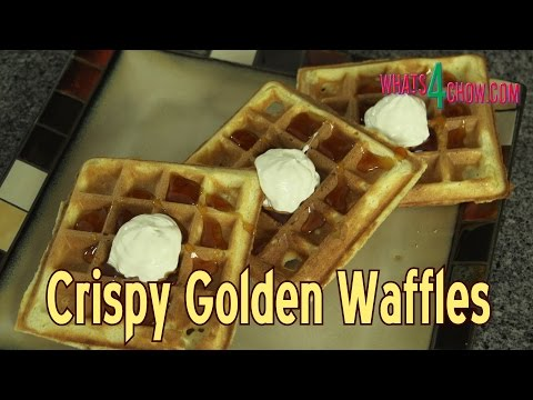How to Make Crispy Golden Waffles - Classic Crispy Waffle Recipe