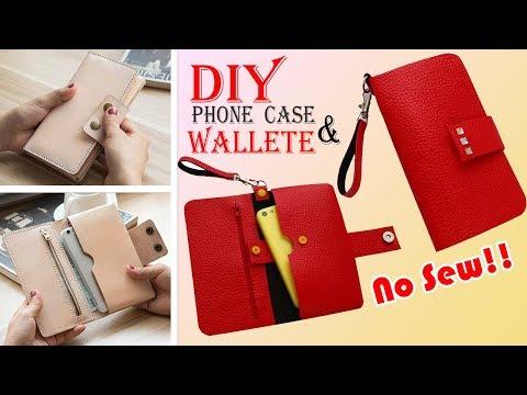 DIY WALLET & PHONE CASE • Old Bag Transform No Sew Idea