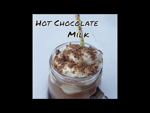 Hot Chocolate Milk in Cold Winter/Chocolate Milkshake Recipe