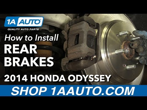 How to Install Replace Rear Brakes Pads Rotors 2011-14 Honda Odyssey