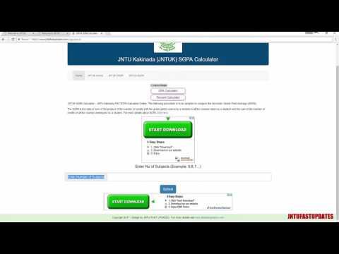 How to Calculate JNTUK SGPA (GPS) online? JNTU FAST UPDATES