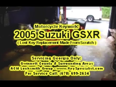 Locksmith: 2005 Suzuki GSXR - Motorcycle Lost Key Replacement Made! Duluth, GA