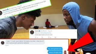 WHEN YOU MEET TWITTER FINGERS IRL! 1VS1 BASKETBALL *GETS EMBARRASSED*