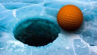 ON EDGE ON ICE! - GOLF IT