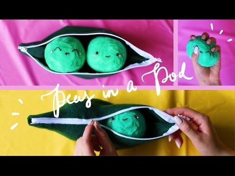 DIY Peas in a Pod Squishy Pouch (no-sew!) 💚