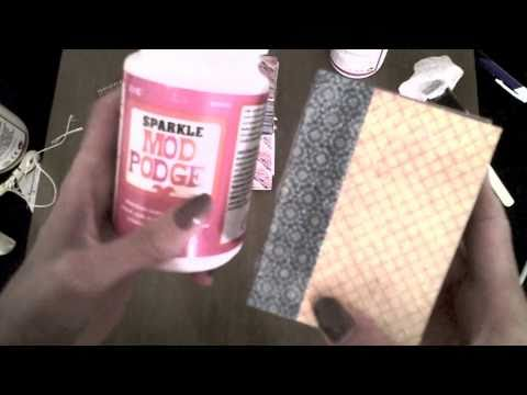 How To Make a Mini Book With Soap Wrap