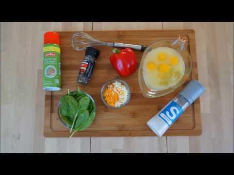 Spinach Pepper Egg Muffins Recipe