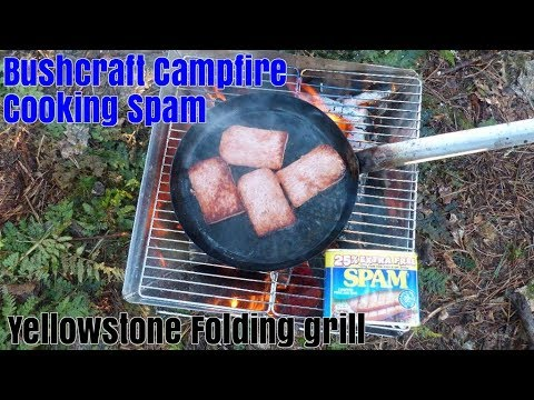 Bushcraft Folding Stove/BBQ Grill Yellowstone For Wild Camping Campfire Cooking Bushcraft Cooking