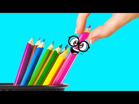 EDIBLE SCHOOL SUPPLIES with Slime Sam [Back to School Life Hacks}