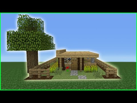 Minecraft Tutorial: How To Make The Smallest Survival House EVER!