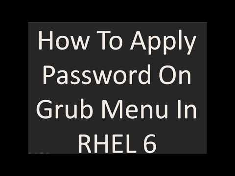 How To Apply Password On Grub In RHEL 6 | Grub Password | Grub Security
