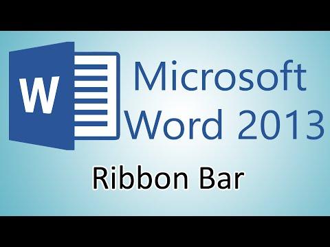 Microsoft Word 2013 Tutorial - Ribbon Bar
