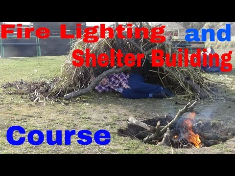 Fire lighting and Shelter Building Course | Holiday Fun For The Kids