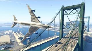 GTA 5 - Amazing/Dangerous PLANE CRASH Compilation #2 (GTA 5 crazy moments)...