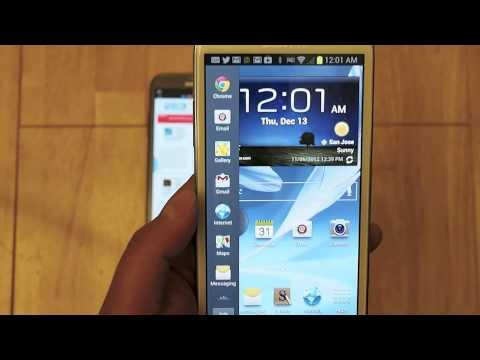 Galaxy Note II: Multi-Window View