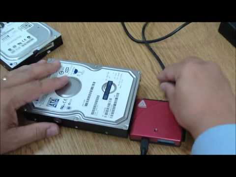 Tech Support: How to connect a hard drive externally through a USB cable + Hard Drive Adapter