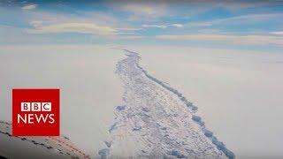 Giant iceberg splits from Antarctic - BBC News
