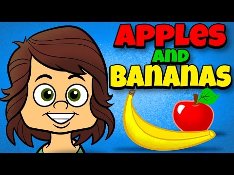 Apples and Bananas with Lyrics - Vowel Songs - Kids Songs by The Learning Station