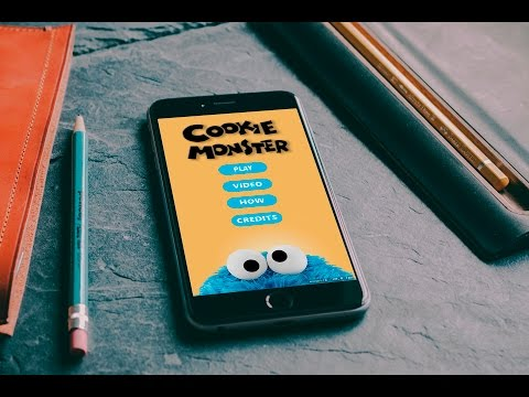 Cookie Monster game for iPhone in Xcode | SpriteKit | Objective C
