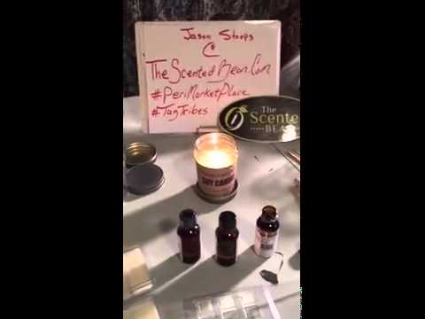 Testing essential oils in soy candles plus packaging