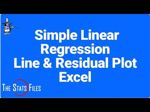 Simple Linear Regression with Residuals - Excel