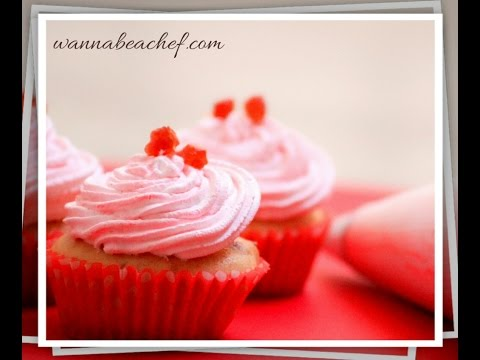 Vanilla Almond Cupcake Topped With Cherries( how to make moist vanilla almond cupcake)