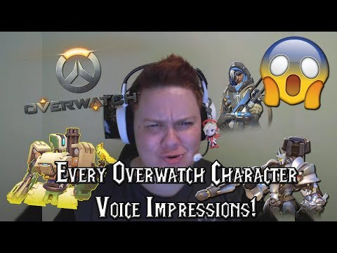 Overwatch Voice Impressions - All 26 Characters!