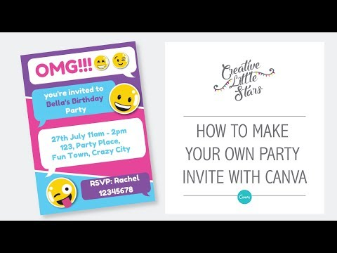 How to Create Custom Invitations in Canva