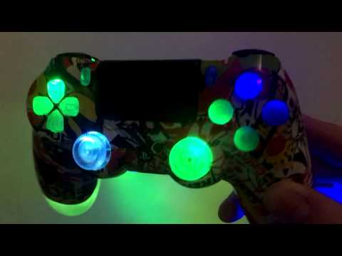 Stickerbomb Custom Ps4 Controller RGB Rainbow LED's Colour Changing