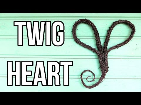 How to Make a Twig Heart Wreath    DIY Nature Crafts