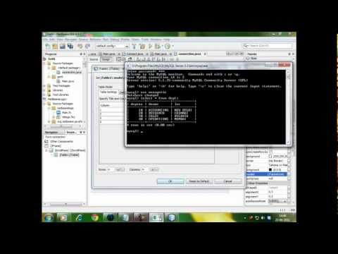 Java Netbeans Database Connectivity
