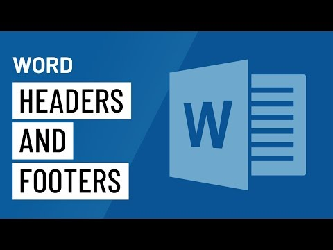 Word 2016: Headers and Footers