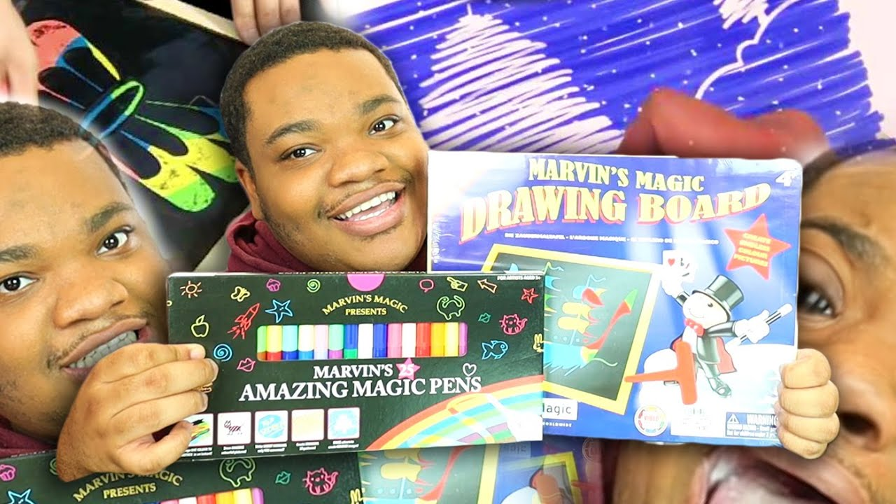 I Bought the Magic Drawing Board and Magic Pens from your childhood (Marvin's Magic)