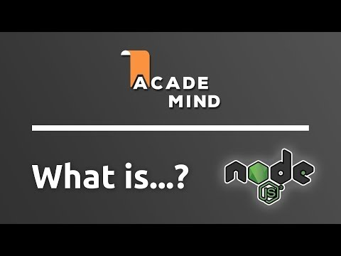 What is Node.js - academind.com Snippet