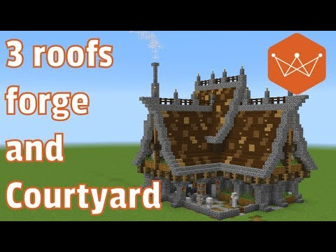 Minecraft Tutorial: How to build a Large Medieval Blacksmith (part 1 structure)