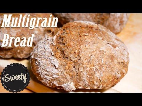 Homemade 100% Multigrain Buns [Healthy Bread Rolls Recipe]