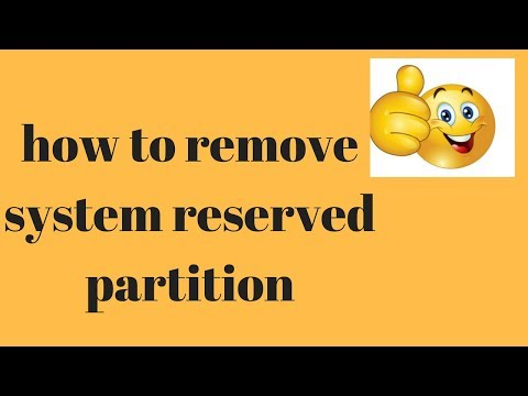 how to remove system reserved partition |