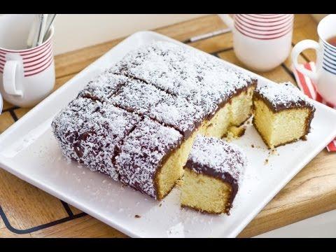 Lamington Cake Recipe - Lamington A Special Australian Sponge Cake - FOOD TO LOVE