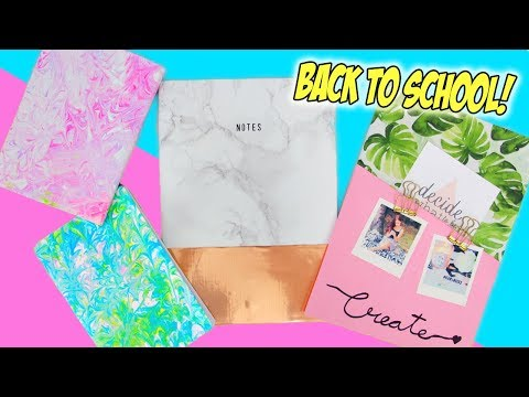 5-MINUTE DIY Notebooks for Back To School!