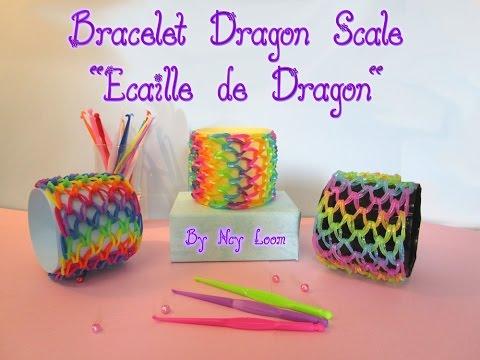 Bracelet Dragon Scale écaille de dragon facile Rainbow Loom FR