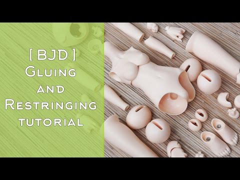 [ BJD ] Gluing and Restringing  tutorial by WillStore [ Assembling Minifee Rin ]