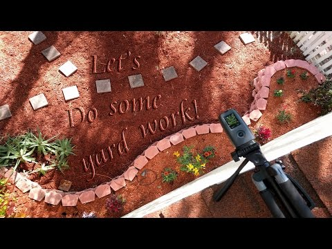 Let's build a flower bed!  Landscaping Time-Lapse
